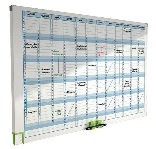 Planning magnétique effaçable Annuel 60x90cm