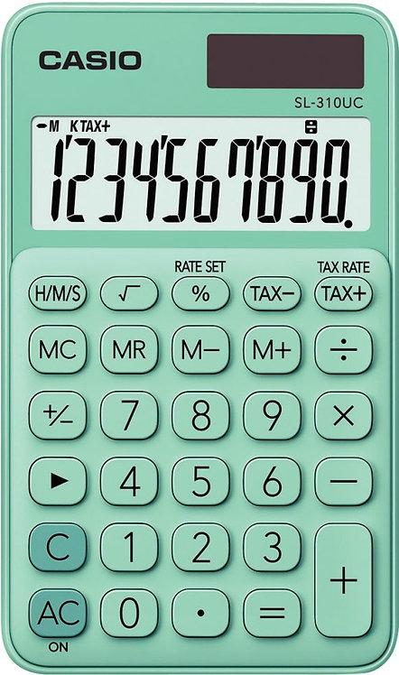 Calculatrice de poche Casio 10 chiffres SL-310UC vert