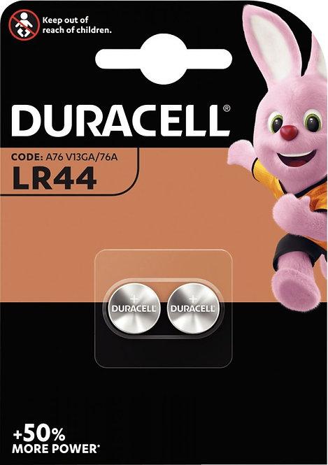 Blister de 2 piles bouton Alcaline LR44