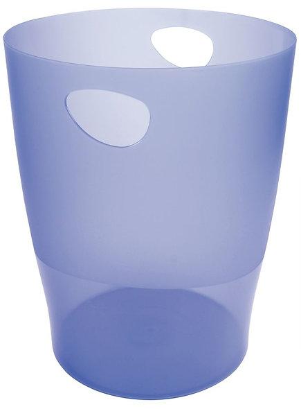 Corbeille à papier Ecobin bleu transparent 15L