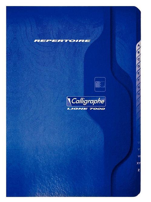 Répertoire piqué 96 pages, format 17 x 22 cm, quadrillé 5x5