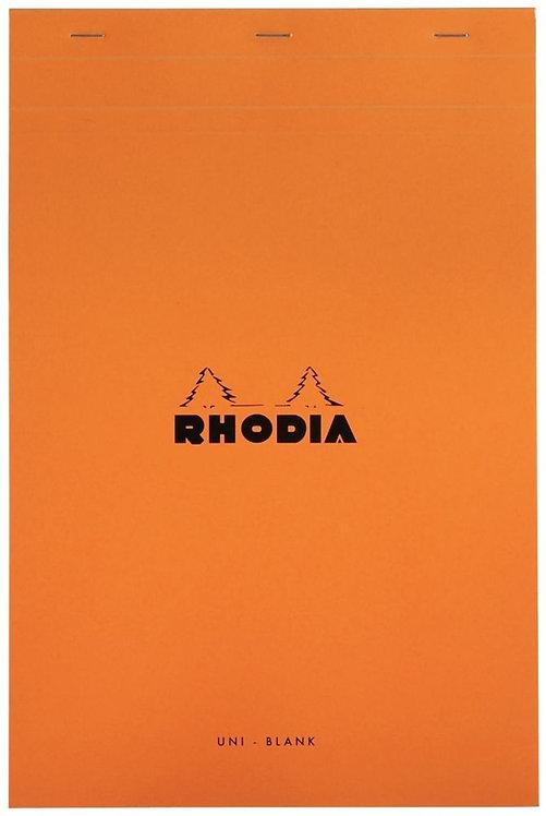 Bloc de bureau RHODIA 80 feuilles micro-perforées détachables A4+ uni blanc