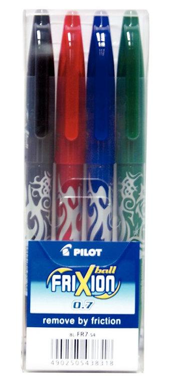 Pochette de 4 rollers effaçables Frixion Ball assortis