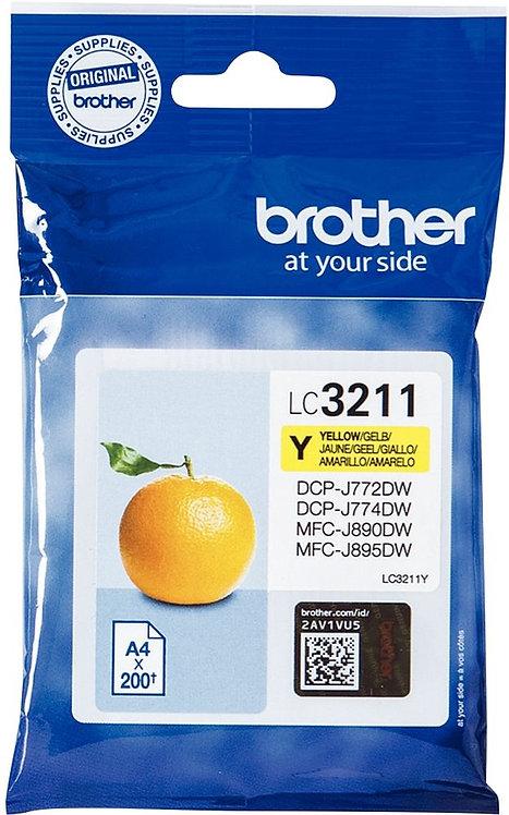 Cartouche encre à la marque Brother LC3211Y jaune