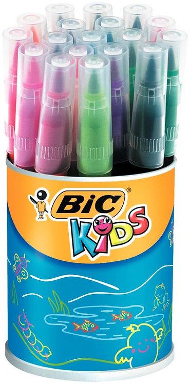 Pot de 18 Visaquarelle pointe pinceau couleurs assorties