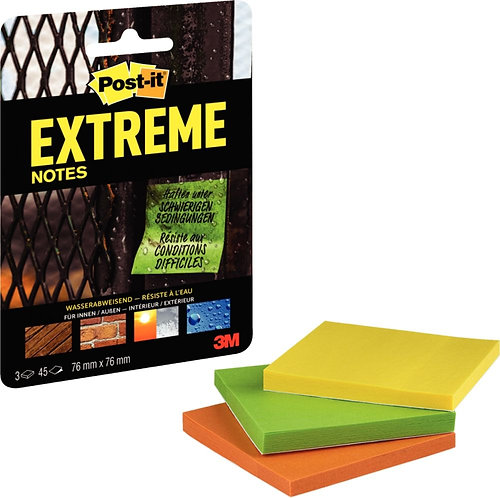 Lot 3 blocs Post-it extreme multisurface 76x76