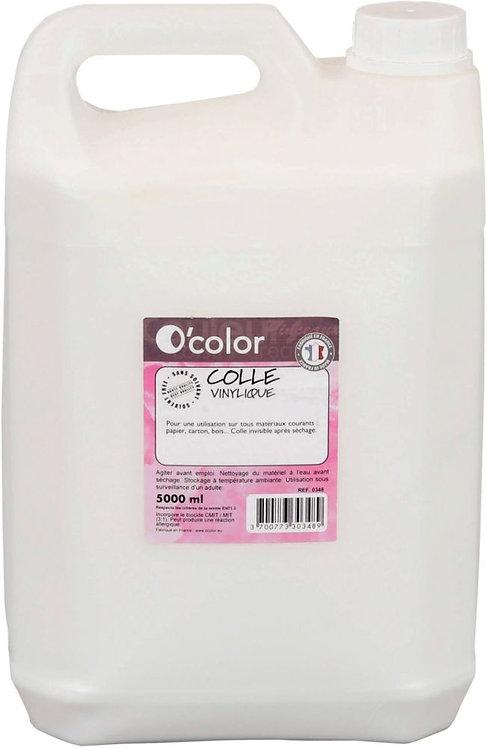 Bidon de 5 litres de colle vinylique blanche OCOLOR