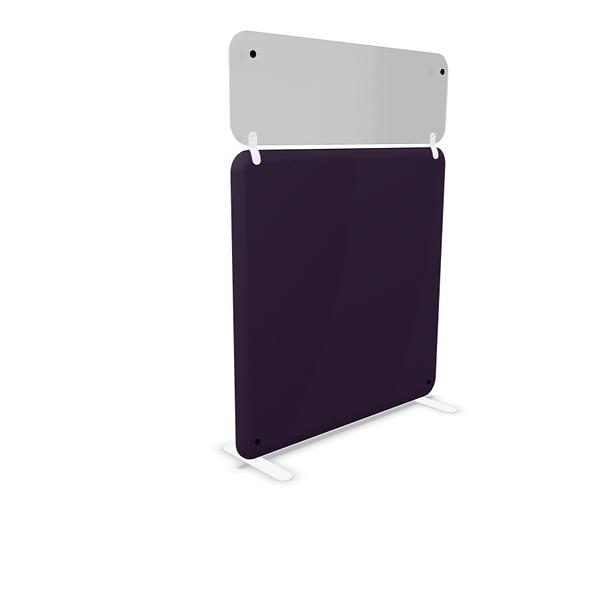 Cloison tissu semi-vitrées TWINKY H. 160 cm - Piétement fixe
