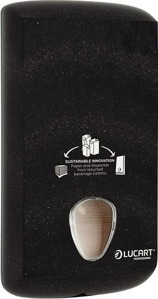 Distributeur papier hygiénique plié recyclé noir