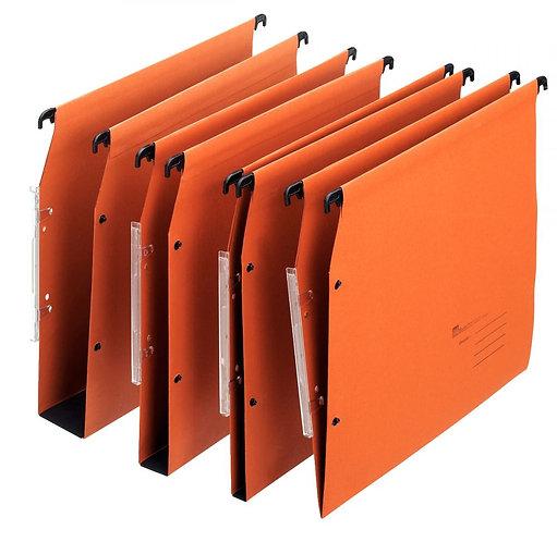 Paquet de 25 dossiers suspendus économiques, dos 30 mm, coloris orange