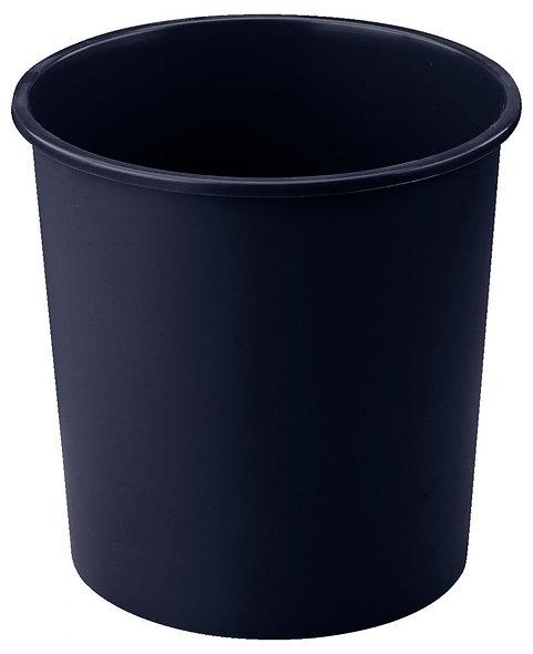 Corbeille à papier plastique ronde 18 litres noir