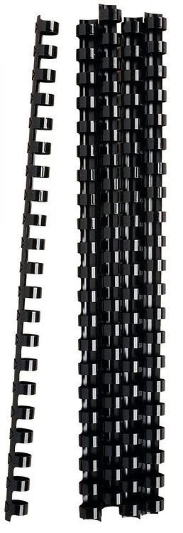 Blister de 25 anneaux à relier, diamètre 12 mm.  Noir