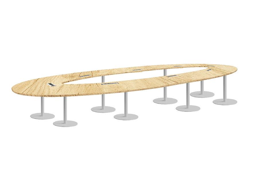 Table oblongue JAROD - Capacité 12 à 14 personnes - Piétement Gris Aluminium
