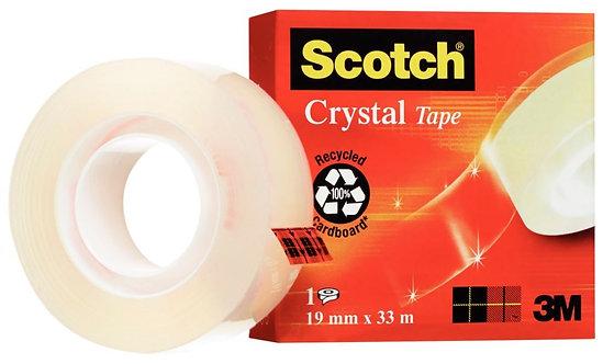 Rouleau adhésif Crystal dimensions: 19mm x 33m