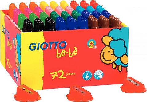 Maxi classpack de 72 crayons de couleur maxi bébé