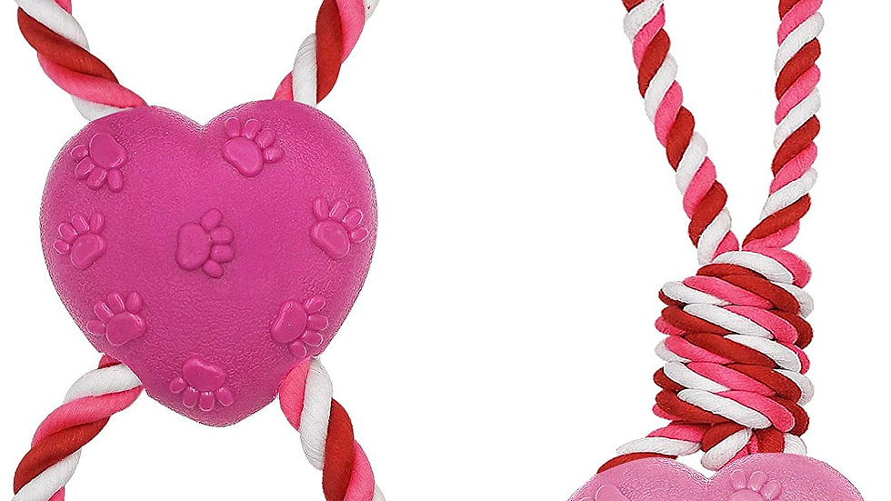 Lepawit Valentine's Day 2Pack Dog Rope Toys