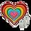 Thumbnail: Rainbow Seven Hearts Set with 3 Heart Spoons