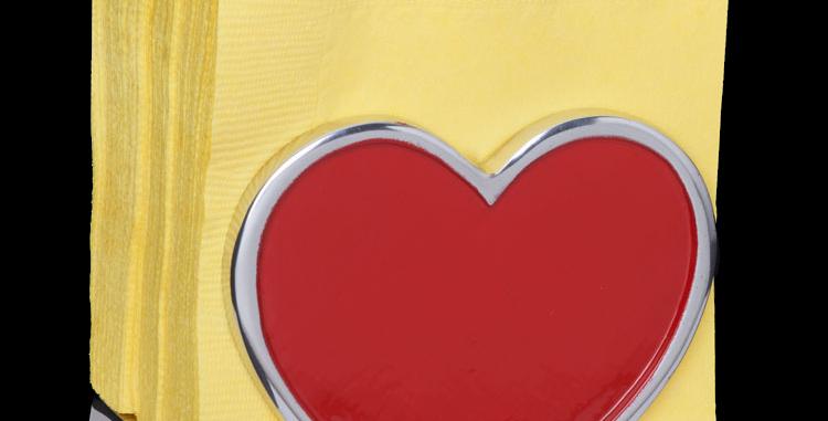 Red Heart Napkin Holder