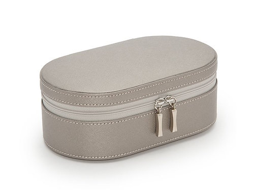 WOLF OVAL ZIP CASE GRAY