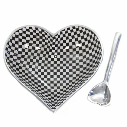 Checkers Heart with Heart Spoon