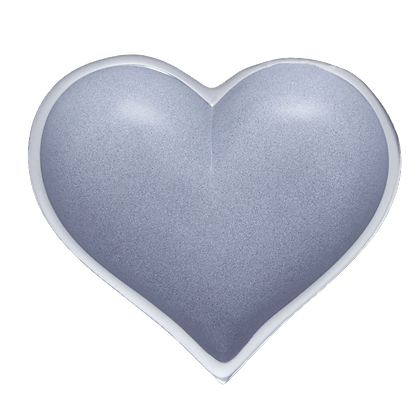 Grey Heart with Heart Spoon