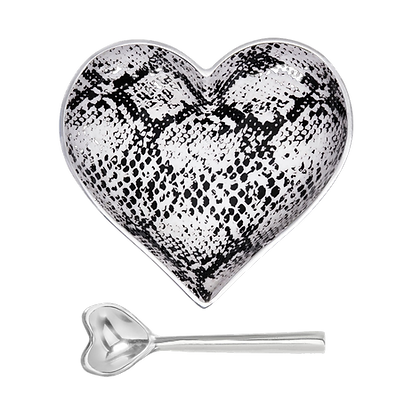 Snake Heart with Heart Spoon