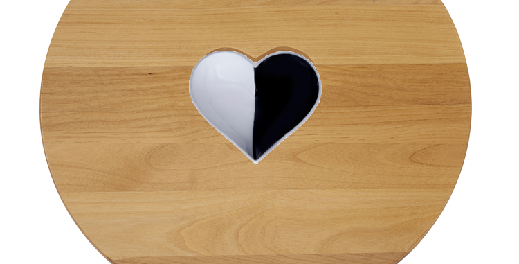 Personalized Lazy Susan with Heart and Spoon - Inspired Generations