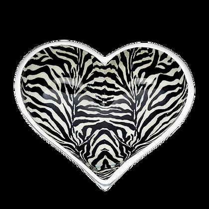 Zebra Heart with Heart Spoon