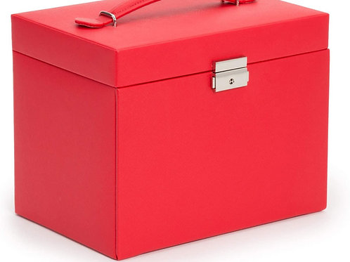 WOLF LARGE JEWELRY BOX OPEN SIDES RED