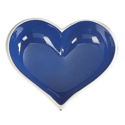 Blue Heart with Heart Spoon