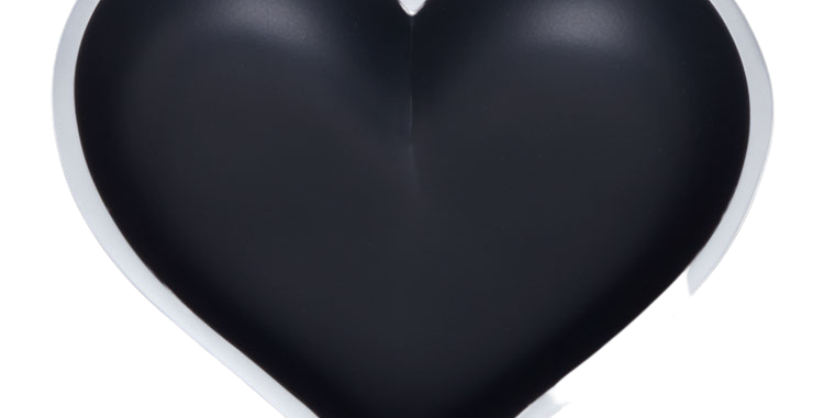 Matte Black Heart with Heart Spoon