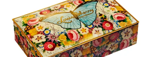 BUTTERFLY BY JOHN DERIAN- LOUISE SHERRY 12 PIECE TIN