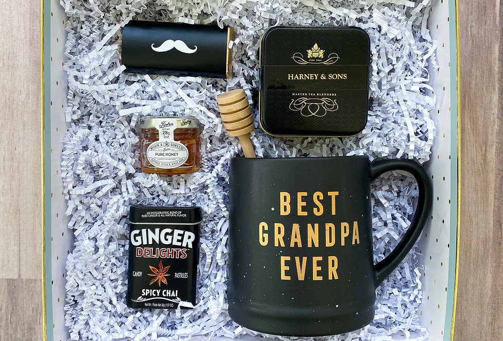 Best Grandpa Black Mug Gift Box