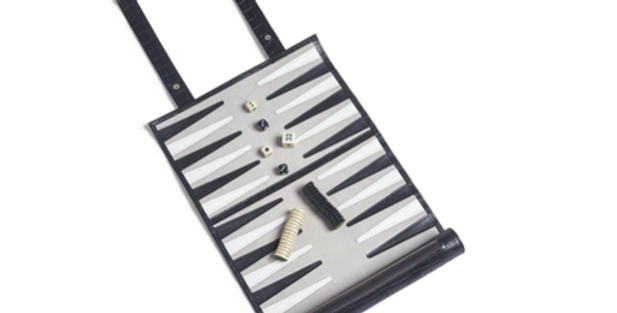 Roll Up Backgammon Set - Black