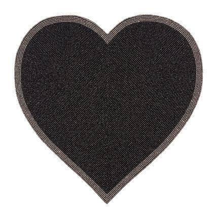 Black Heart Placemat