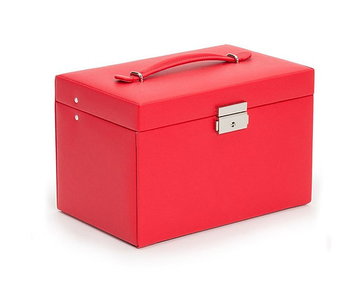 WOLF LARGE JEWELRY BOX RED