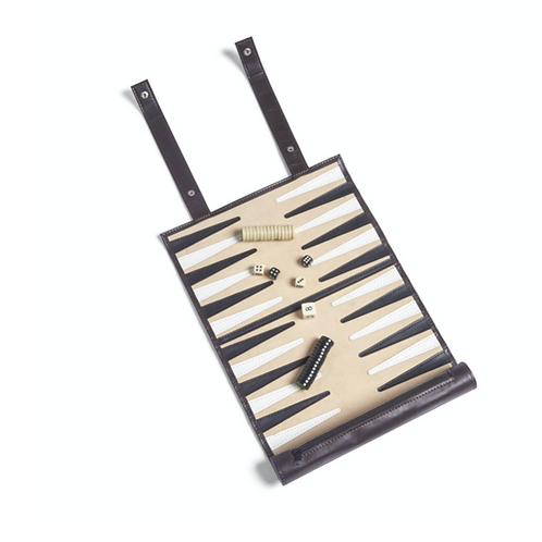 Roll Up Backgammon Set - Brown