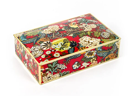 CHIANG MAI DRAGON LACQUER RED - LOUISE SHERRY 12 PIECE TIN