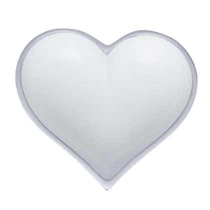 Matte White Heart with Heart Spoon