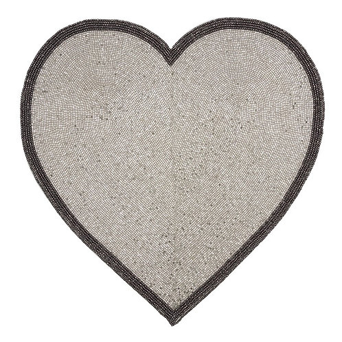 Silver Heart Placemat