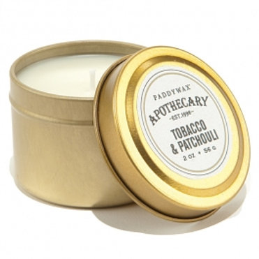 PADDYWAX APOTHECARY - TOBACCO & PATCHULLI TRAVEL TIN CANDLE