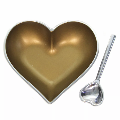 Gold Heart with Heart Spoon