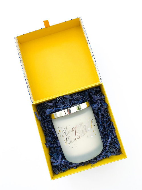 Hanukkah White Candle in a Box