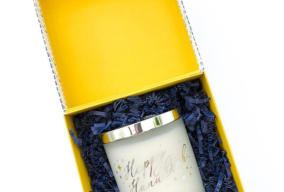 Hanukkah White Candle in a Box