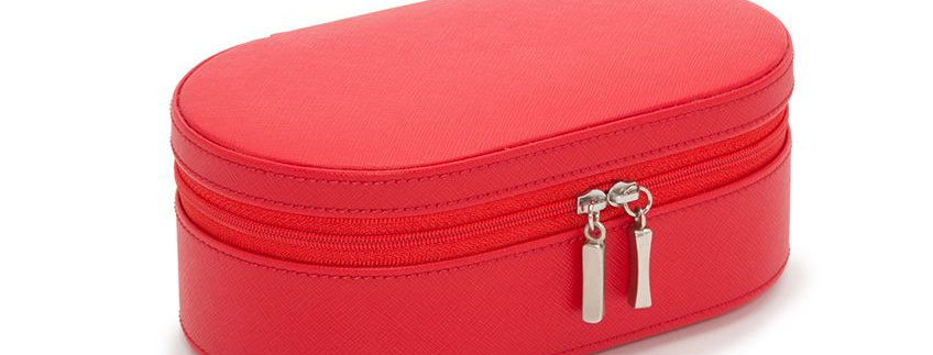 WOLF OVAL ZIP CASE RED