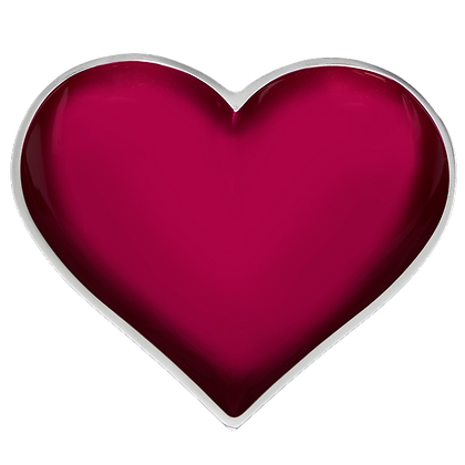 Magenta Heart with Heart Spoon