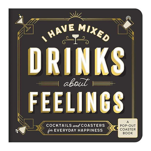 DRINKS ABOUT FEELINGS  BOOK - COASTERS