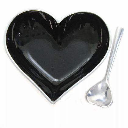Black Heart with Heart Spoon
