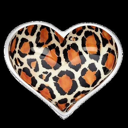 Leopard Heart with Heart Spoon