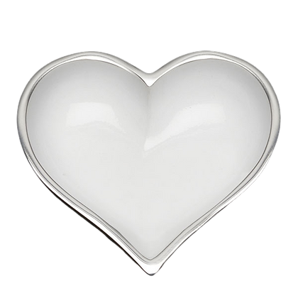 Shiny White Heart with Heart Spoon